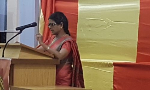 Minister Mrs.Balambihai Murugadas address in Tamil Eelam Women's Day on 10th October 2017
